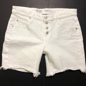 Mossimo Supply Co. Shorts - Mossimo White Stretch Boyfriend Short Size 6